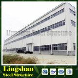 Edificio prefabricado de la fábrica de la estructura de acero del diseño de China (LS-SS-46)