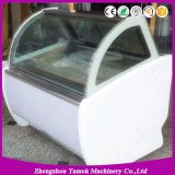 Congelador de vidro do gelado do Showcase do indicador do Popsicle do estilo italiano