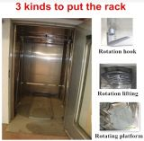 Forno giratório da cremalheira do gancho do pão automático do ar quente de aço inoxidável para a venda