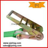 """En12195-2 4 """" com a cinta 4 """" verde da catraca dos anéis-D de X 30 '"""