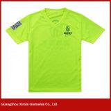 T-shirt estampé fait sur commande de Microfiber de coton de qualité (R69)