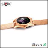 2017 Nouveau Smart Watch K89 rond Bluetooth Smart Watch Phone pour Android Phone et ISO iPhone avec cardiofréquencemètre Dispositifs portables