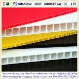 La alta calidad material de los PP de la certificación modificó la hoja hueco clasificada de los PP para requisitos particulares para la muestra de la yarda