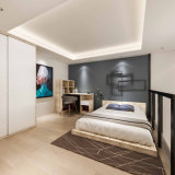 Conjunto de dormitorio por encargo de las vacaciones del apartamento del servicio de hotel