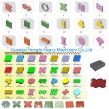 Qtf3-20 Finisseur machine à fabriquer des blocs de couleur brique