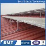 Pitch solaire solaire toit métallique Structure de montage