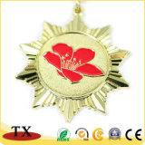 Ouro de alta qualidade e a Medalha de metal de Fractius com logotipo de coloração