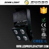 Appareil d'éclairage industriel de piste de type de plugin en bronze DEL, lampe d'éclairage de piste de cuisine de DEL