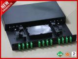 24 Núcleos 12 Adaptadores X SC APC ODF óptica duplex deslize Patch Panel