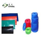 3 Polegadas dobrável de alta pressão de PVC reforçado com azul de fixar a mangueira plana