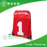 昇進ポリエステルナイロンを広告することは体操のドローストリングのバックパック袋を遊ばす