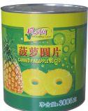Excellente qualité de récolte fraîche les ananas en conserve des tranches de sonnerie