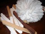 Un pañuelo de papel Pompom