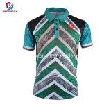 주문 남자의 골프 셔츠 승화 운동복은 적당한 폴로 셔츠를 말린다