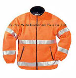 Uja008poliéster Oxford PVC/PU Non-Breathable/PU respiráveis cubra pano reflexivo Parka Casaco Worksuit Raincoat