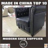 Sofa en cuir classique de salle de séjour de Chesterfield