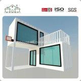 Дом контейнера гибкой комбинации передвижная Prefab с большим стеклянным окном