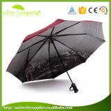 Il manuale più poco costoso apre 3 l'ombrello di volta di promozione LED