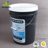 混合のための印刷された黒いPP 20kgの具体的なバケツ