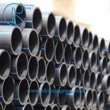 Tubo dell'HDPE con la banda blu per acqua e gas
