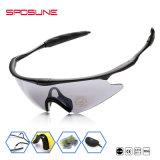 Cyclisme Prolight enrouler autour de Google Custom logo imprimé partie verres de lunettes de soleil à objectif interchangeable de sports de plein air