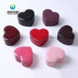 Coração PU Caixa Jewellry Embalagem de couro