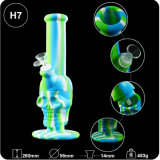 "China Wholesale 11 "" Skull Unbreakable Silicone Glass DAB Wax Tobacco Water Tuxedo"
