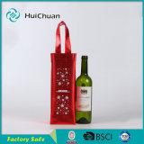 Sacchetto non tessuto metallico del vino per 1 sacchetto di Tote della bottiglia
