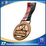 Изготовленный на заказ легирующий металл логоса 3D резвится медаль с по-разному плакировкой