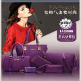 European Style Purple Ladies Tote Bag Leather Handbag