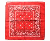 中国の工場農産物はデザインを印刷した22インチの赤い綿のHeadwrapのバンダナをカスタマイズした
