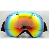 Lunettes de ski de dames avec les lunettes faites sur commande de modèle neuf en verre de lunettes de neige de ski d'anti brouillon