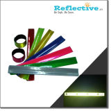 Slap reflectante de seguridad reflectante Wrap Wrap, brazaletes reflectantes