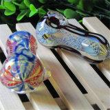 Tubo colorido de cristal de la mano del tubo de la cuchara del tubo de agua del tubo que fuma