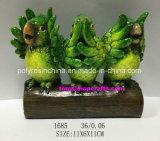 Polyresin kluge grüne Papageien-Ausgangsdekoration