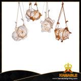 Corde de chanvre industriel Lampe suspendues lustre en cristal (MD10993-1LS+2SS)