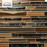 熱い販売の縞のクリスタルグラスのモロッコのモザイク現代壁のタイル