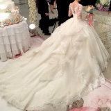 Robe gonflée perlée nuptiale H14658 de princesse mariage de Tulle de robe de bille de lacet