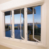 Fenêtre double en aluminium Hung/Single Hung fenêtre avec le verre trempé
