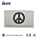 tarjeta de cumpleaños sellado caliente de 2.4 de '' LCD con el saludo caliente