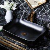 Het sanitaire Bassin van de Was van de Kleur van Waren Ceramische Matte Zwarte C1184