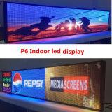 P6屋内2145X415mm RJ45およびUSBのプログラム可能な圧延情報P6 RGB LED表示スクリーン