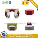 Elegante Mobiliário sofá grande sala de estar em forma de U sofá de couro (HX-SN8012)