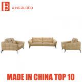 Beige Farben-echtes Leder-Sofa-Set und Stuhl für Abkommen
