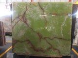 Onxyの大理石の平板のタイル張りの床、自然な舗装のタイル