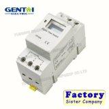 Interruptor do relé de tempo de trilho DIN LCD digital temporizador programável de energia DC 12 volts do interruptor do temporizador