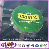 Casella chiara di succhiamento ovale acrilica del LED