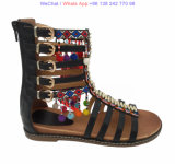 Gladiator Zipper Back Strappy Sandals zapatos