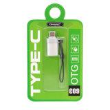 Adaptador de corriente tipo de conversión de OTG Plus Cargador Cable USB (plata)