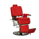 설치된 올리는 시스템 이발 의자를 가진 빨간 이발소용 의자